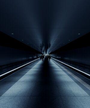 Empty subway station